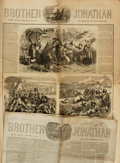 Books:Periodicals, [Illustrated Periodicals]. Two Issues of Brother Jonathan. Circa 1854 - 1856....