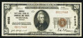 National Bank Notes:Virginia, Norfolk, VA - $20 1929 Ty. 1 Norfolk NB of Commerce & TrustsCh. # 6032. ...