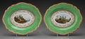 Ceramics & Porcelain, British:Antique  (Pre 1900), A Pair of Flight, Barr & Barr Worcester Porcelain Topographical Dessert Dishes, Worcester, England, circa 1813-1840. Marks: ... (Total: 2 Items)