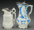 Ceramics & Porcelain, British:Antique  (Pre 1900), Two Charles Meigh Ceramic Vessels: Minister Jug & Amphitrite, circa 1846-1855. Marks: Molded medallions to under... (Total: 2 Items)