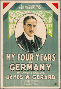 "My Four Years in Germany (First National, 1918). One Sheet (27"" X 41""). War"