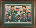 Football Collectibles:Others, Favre, Chmura and Winters Multi Signed Lithograph....