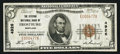 National Bank Notes:Maryland, Frostburg, MD - $5 1929 Ty. 1 The Citizens NB Ch. # 4926. ...