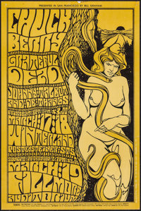 "Chuck Berry at the Winterland (Bill Graham, 1967). Concert Poster #55 (13.5"" X 20.5"") 1st Printing. Rock and R..."