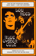 "Movie Posters:Rock and Roll, Lou Reed at the Ford Auditorium (Wabx and Ram, 1973). ConcertPoster (10"" X 15.75"") 1st Printing. Rock and Roll.. ..."