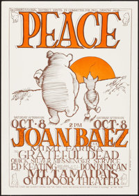 "Joan Baez, The Grateful Dead at the Mt. Tamaipais Outdoor Theater (1970s). Reprint Concert Poster (14"" X 20"")..."