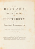 Books:Science & Technology, Joseph Priestley. The History and Present State of Electricity,with Original Experiments. London: Printed for J...