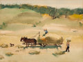 Fine Art - Work on Paper:Watercolor, Paul Sample (American, 1896-1974). Haying. Watercolor onpaper. 10 x 13-1/4 inches (25.4 x 33.7 cm) (sight). Signed lowe...