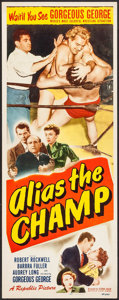 "Movie Posters:Sports, Alias the Champ (Republic, 1949). Insert (14"" X 36""). Sports.. ..."