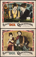 "Movie Posters:Crime, Quicksands (Paramount, R-1927). Lobby Cards (2) (11"" X 14"").Crime.. ... (Total: 2 Items)"