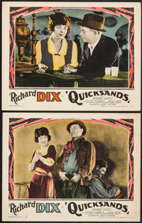 "Quicksands (Paramount, R-1927). Lobby Cards (2) (11"" X 14""). Crime. ... (Total: 2 Items)"