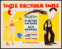 """Smile, Brother, Smile (First National, 1927). Title Lobby Card (11"""" X 14""""). Comedy"""