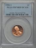 Proof Lincoln Cents, 1988-S 1C PR70 Red Deep Cameo PCGS. PCGS Population (210). NGC Census: (33). Numismedia Wsl. Price for problem free NGC/PC...