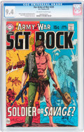 Bronze Age (1970-1979):War, Our Army at War #220 (DC, 1970) CGC NM 9.4 Off-white to white pages....