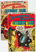 Golden Age (1938-1955):War, Commander Battle And The Atomic Sub #2 and 3 Group (ACG, 1954)....(Total: 2 Comic Books)