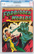 Golden Age (1938-1955):Science Fiction, Forbidden Worlds #1 (ACG, 1951) CGC FN/VF 7.0 Cream to off-whitepages....