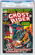 Bronze Age (1970-1979):Superhero, Marvel Spotlight #5 Ghost Rider (Marvel, 1972) CGC VF/NM 9.0 Whitepages....