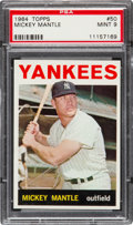 Baseball Cards:Singles (1960-1969), 1964 Topps Mickey Mantle #50 PSA Mint 9....