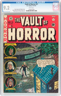 Golden Age (1938-1955):Horror, Vault of Horror #21 (EC, 1951) CGC NM- 9.2 White pages....