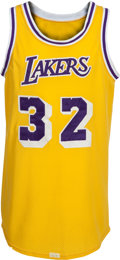 Autographs:Baseballs, 1980-85 Magic Johnson Game Worn Los Angeles Lakers Jersey, MEARSA10....
