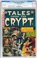 Golden Age (1938-1955):Horror, Tales From the Crypt #34 (EC, 1953) CGC VF- 7.5 Off-white pages....