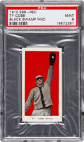 "Baseball Cards:Singles (Pre-1930), 1910 E98 ""Set of 30"" Ty Cobb - Red (Black Swamp Find) PSA Mint 9...."