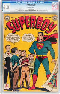 Superboy #1 (DC, 1949) CGC FN 6.0 Off-white pages