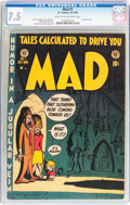 Golden Age (1938-1955):Humor, MAD #1 (EC, 1952) CGC VF- 7.5 Light tan to off-white pages....