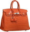 Luxury Accessories:Bags, Hermes 25cm Matte Sanguine Nilo Crocodile Birkin Bag with PalladiumHardware. P Square, 2012. Excellent Condition. ...