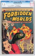 Golden Age (1938-1955):Science Fiction, Forbidden Worlds #2 (ACG, 1951) CGC VF- 7.5 Off-white to whitepages....