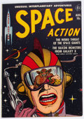 Golden Age (1938-1955):Science Fiction, Space Action #2 (Ace, 1952) Condition: FN/VF....