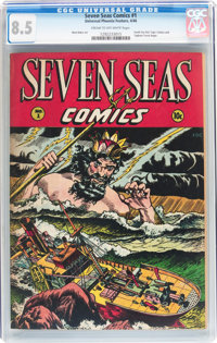 Seven Seas Comics #1 (Universal Phoenix Feature, 1946) CGC VF+ 8.5 Cream to off-white pages