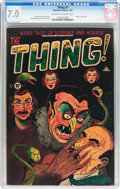 Golden Age (1938-1955):Horror, The Thing! #7 (Charlton, 1953) CGC FN/VF 7.0 Cream to off-white pages....