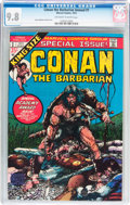 Bronze Age (1970-1979):Miscellaneous, Conan the Barbarian Annual #1 (Marvel, 1973) CGC NM/MT 9.8Off-white to white pages....