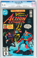 Modern Age (1980-Present):Superhero, Action Comics #521 (DC, 1981) CGC NM 9.4 White pages....