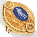 Estate Jewelry:Rings, Antique Wedgwood Cameo, Gold Ring. ...