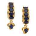 Estate Jewelry:Earrings, Sapphire, Gold Earrings. ...