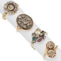 Estate Jewelry:Rings, Antique Diamond, Multi-Stone, Gold, Silver Rings. ...