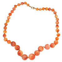 Agate, Gold-Filled Necklace