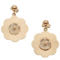 Estate Jewelry:Earrings, Moonstone, Gold Earrings, Tiffany & Co.. ...