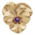 Estate Jewelry:Brooches - Pins, Amethyst, Gold Brooch, Tiffany & Co.. ...