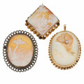 Estate Jewelry:Cameos, Shell Cameo, Diamond, Gold, Sterling Silver, Gold-Filled Jewelry....