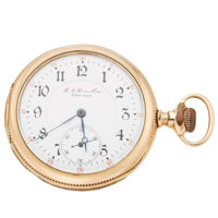 Private Label J.A. Hesselbom, Chicago 17 Jewel Open Face Pocket Watch