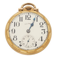 Illinois 21 Jewel A. Lincoln Open Face Pocket Watch