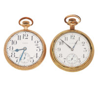 Two Elgin's Open Face Pocket Watches Runners