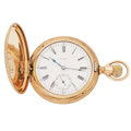Timepieces:Pocket (post 1900), Elgin 7 Jewel Hunter Case Pocket Watch. ...