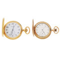 Timepieces:Pocket (post 1900), Elgin & Caravelle Hunters Case Pocket Watches Runners. ... (Total: 2 Items)
