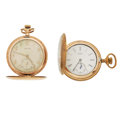 Timepieces:Pocket (post 1900), Illinois 21 Jewel Time King & Elgin 15 Jewel Hunter's Case Pocket Watch Runners. ... (Total: 2 Items)