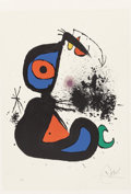 Prints:Contemporary, Joan Miró (Spanish, 1893-1983). Mangeur de Foudre II, 1973.Lithograph in colors on paper. 35-1/2 x 24-1/4 inches (90.2 ...