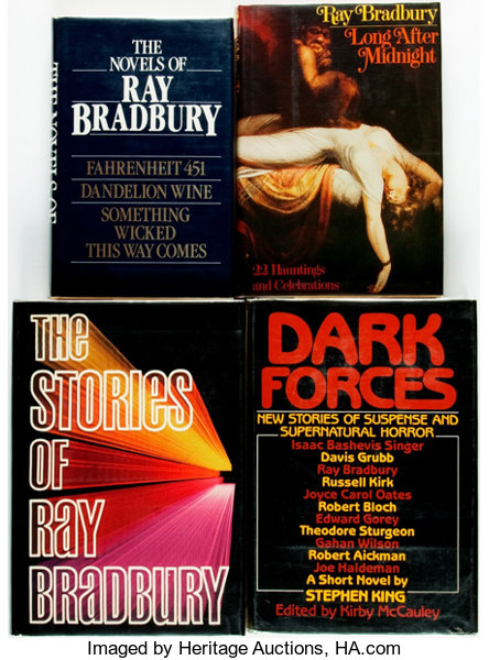 Ray Bradbury Group Of Four Inscribed Books Various Publishers And